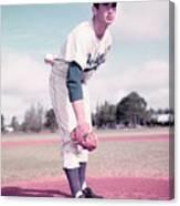 Baseball Player Sandy Koufax Canvas Print