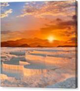 Beautiful Sunrise And Natural Canvas Print