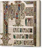 Book Of Lindisfarne Canvas Print