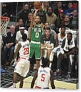 Boston Celtics V La Clippers Canvas Print