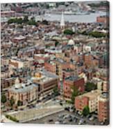 Boston Government Center, North End And Harbor Canvas Print