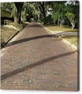 Brick Road In Palatka Florida Canvas Print
