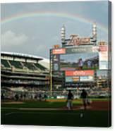 Chicago Cubs V Detroit Tigers Canvas Print
