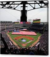 Chicago Cubs V Texas Rangers Canvas Print