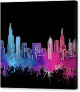 Chicago Skyline Watercolor 3 Canvas Print