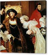 Christian II Signing The Death Warrant Of Torben Oxe  Canvas Print