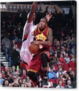 Cleveland Cavaliers V Portland Trail Canvas Print