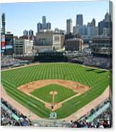 Cleveland Indians V Detroit Tigers Canvas Print