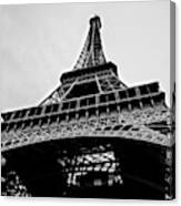 Close Up View Of The Eiffel Tower From Underneath  Canvas Print