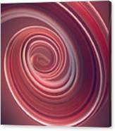 Colored Twisted Shape. Computer Canvas Print
