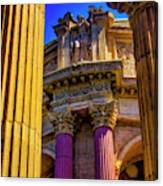 Columns Of The Palace Of Fine Arts Canvas Print