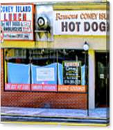 Coney Island Lunch Canvas Print