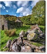 Cottage Ruin Snowdonia Canvas Print