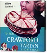 Crawford Tartan Shortbread Canvas Print