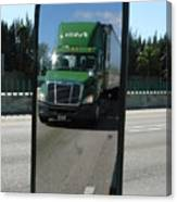 Green Freightliner Publix Canvas Print