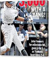 Daily News Front Page Derek Jeter Canvas Print