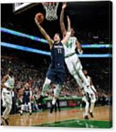 Dallas Mavericks V Boston Celtics Canvas Print
