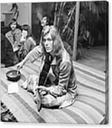 David Bowie At Bingeheimer Party Canvas Print