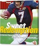 Denver Broncos Qb John Elway, Super Bowl Xxxii Sports Illustrated Cover Canvas Print