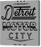 Detroit Motor City Canvas Print