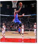 Detroit Pistons V Portland Trail Blazers Canvas Print
