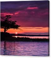 Detroit Point September Sunset Canvas Print