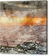 Digital Watercolor Painting Of Stunning Winter Panoramic Landsca Canvas Print