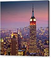 Empire State Building From Rockefeller Canvas Print