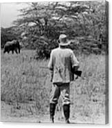Ernest Hemingway On Safari Canvas Print
