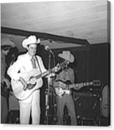 Ernest Tubb At The Palomino Canvas Print