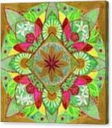 Flower Garden Mandala Canvas Print