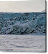 Glacier Front On Svalbard Canvas Print