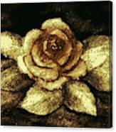 Antique Gold Rose Canvas Print