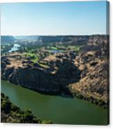 Green Snake River Canvas Print