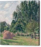 Haystacks, Morning, Eragny, 1899 Canvas Print