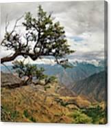 Hells Canyon Panoramic Canvas Print