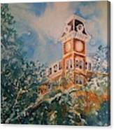 Ice On Old Main Canvas Print