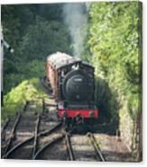 J27 Locomotive 65894 On North York Moors Railway Canvas Print