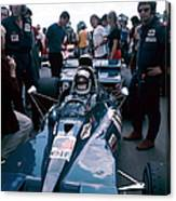 Jackie Stewart At The Wheel Of A Racing Canvas Print