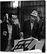 Jones & Sinatra In Studio Canvas Print