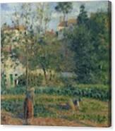 Kitchen Garden At The Hermitage, Pontoise, 1879 Canvas Print