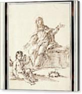 La Virgen Dolorosa   Canvas Print