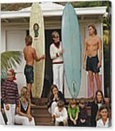 Laguna Beach Surfers Canvas Print