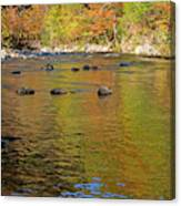 Little River In Autumn In Smoky Mountains National Park Canvas Print