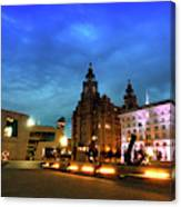 Liverpool's Historic Waterfront Canvas Print