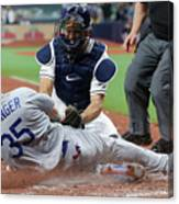 Los Angeles Dodgers V Tampa Bay Rays 1 Canvas Print