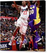 Los Angeles Lakers V La Clippers Canvas Print