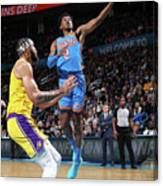 Los Angeles Lakers Vs Oklahoma City Canvas Print