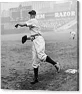Lou Gehrig Playing First Base Canvas Print