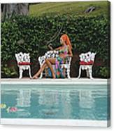 Lounging In Bermuda Canvas Print